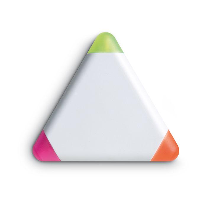 highlighter-trekantet-med-logo-tryk-reklamedimser