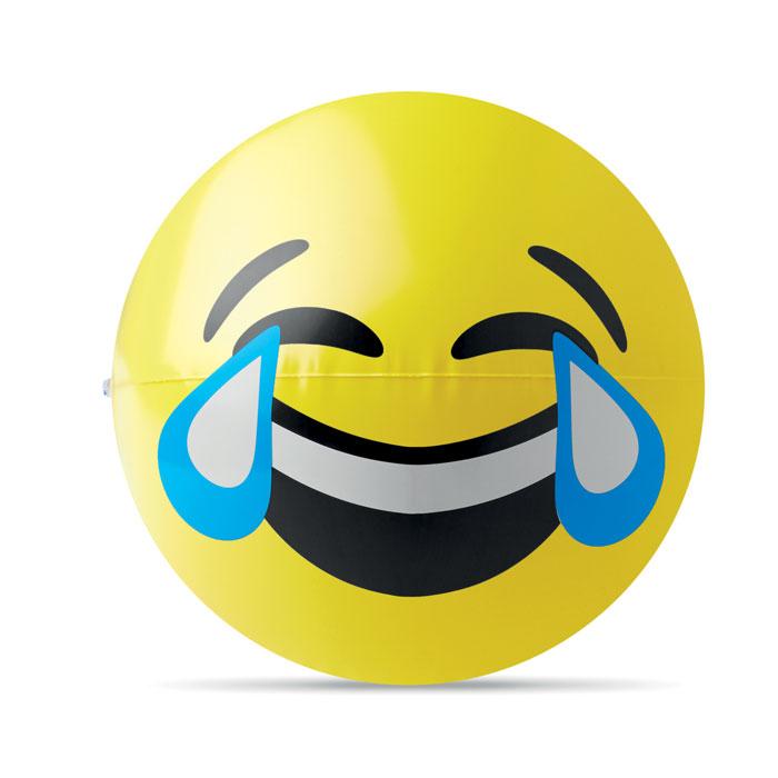 Badebold med grinende emoji
